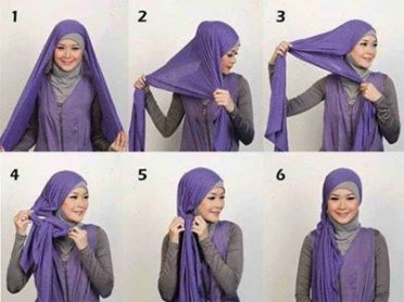 tutorial hijab simple, tutorial hijab modern