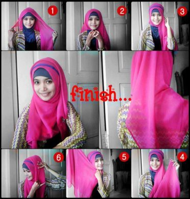 tutorial jilbab segi empat variasi hadband cantik simple mud