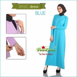 Basic Dress Muslim Biru Blue Busui 081326212750