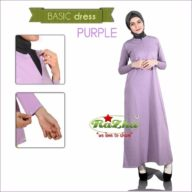 Basic Dress Ungu Purple Busui 081326212750