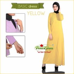 Basic Dress Busui Kuning Yellow 081326212750
